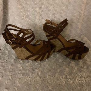 Ship by Journey Double Buckle Wedges Sz 7.5